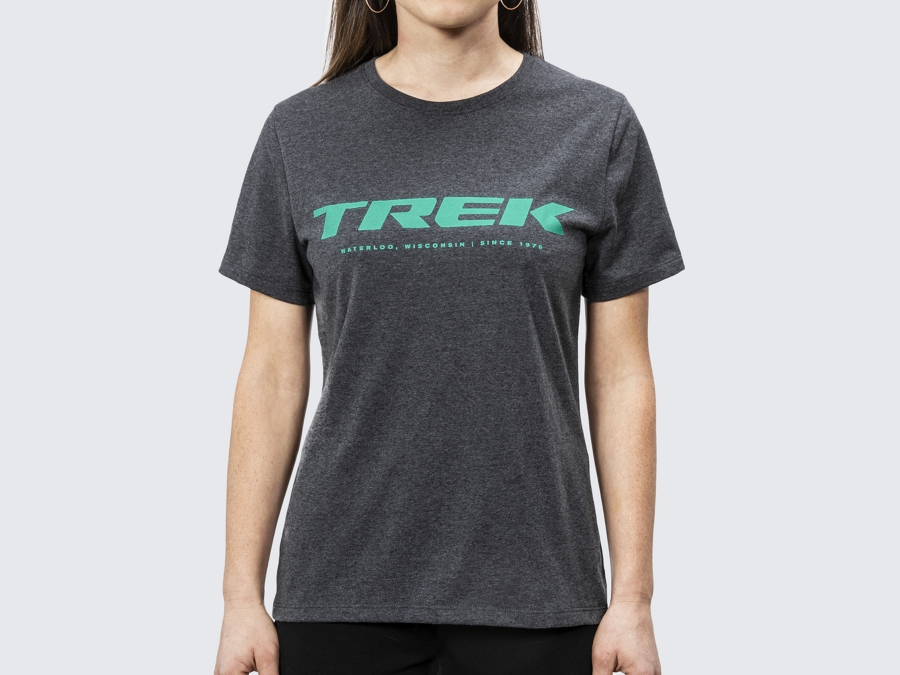 Shirt Trek Logo Tee Women's L Charcoal Heather